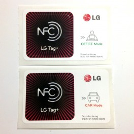 Original LG NFC Tag smart tags NTAG203 OFFICE + CAR for LG Optimus Vu LTE Type 2