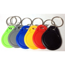 Set of 6 different colors NFC keyring Label Smart Tags MiFare NTAG203 Type 2 Tag Android Samsung S4