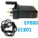 Original Sony EP880 USB Quick Charger UK Plug + EC801 Charge Data Cable Xperia T TX