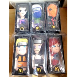 Genuine 2013 China Mcdonald's NARUTO Plush Dolls Limited edition set of 6 NIB