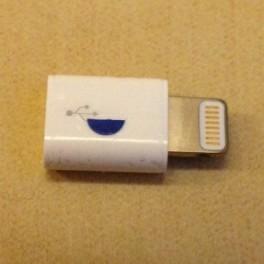 genuine original lightning to micro usb adapter for iphone. Black Bedroom Furniture Sets. Home Design Ideas