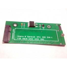 "mSATA SSD convert to 2.5"" SATA 22pin Adapter ASUS UX31 UX21 Sandisk XM11 Laptop"