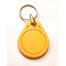 UID changeable rewritable Mifare classic 1k NFC tag yellow keyring rewrite tags