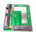 "Card slot 50mm Mini PCI-E mSATA SSD adapter converter to 2.5"" 3.5"" SATA Smallest"