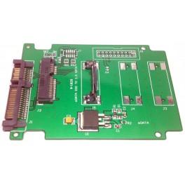 Card slot 26.8mm Mini PCI-E mSATA SSD adapter converter convert SATA Half Height