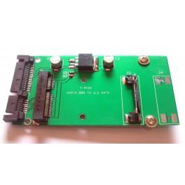 "50mm 2.5"" SATA 22Pin Convert Adapter for ASUS Eee PC 4G MSATA MINI PCI-E SSD 3.3"