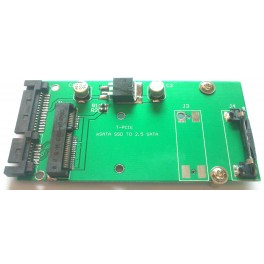 "70mm 2.5"" SATA 22Pin convert Adapter ASUS Eee PC S101 903 MSATA MINI PCI-E SSD"